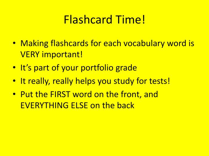 Flashcard Time!
