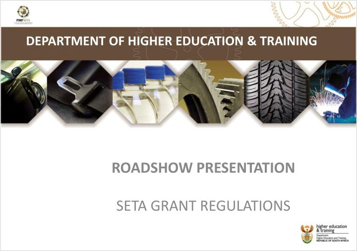 DEPARTMENT OF HIGHER EDUCATION & TRAINING