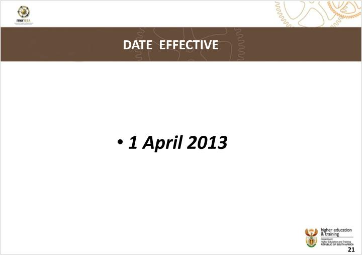 DATE  EFFECTIVE