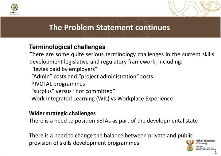 The Problem Statement continues