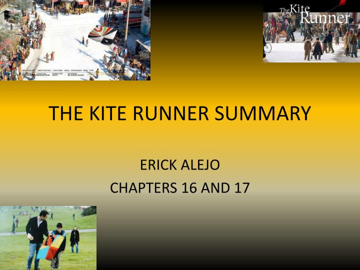 The kite runner summary