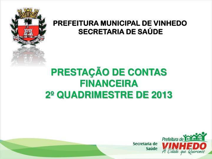 PREFEITURA MUNICIPAL DE VINHEDO