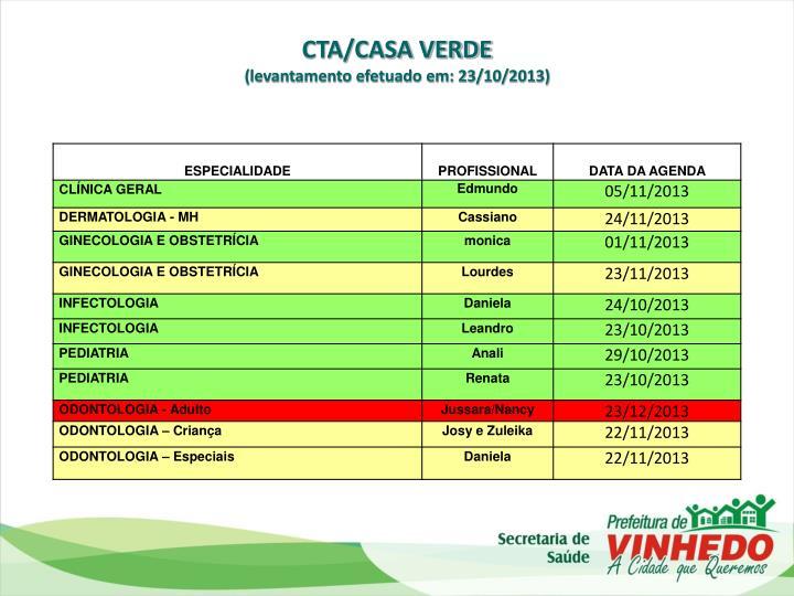 CTA/CASA VERDE