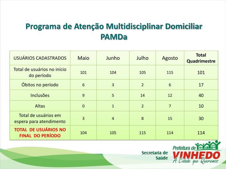 Programa de Atenção Multidisciplinar Domiciliar