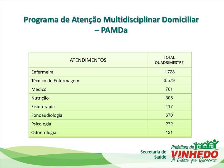 Programa de Atenção Multidisciplinar Domiciliar –