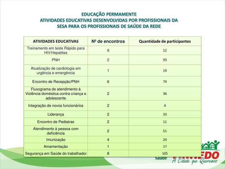EDUCAÇÃO PERMAMENTE