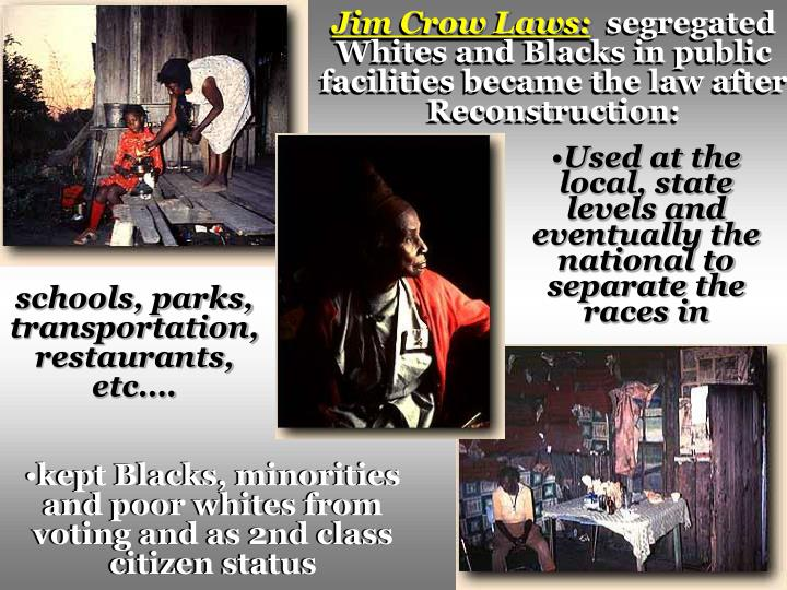 Jim Crow Laws:
