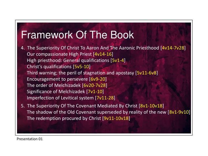 Framework Of The Book