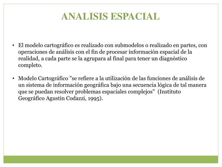 ANALISIS ESPACIAL
