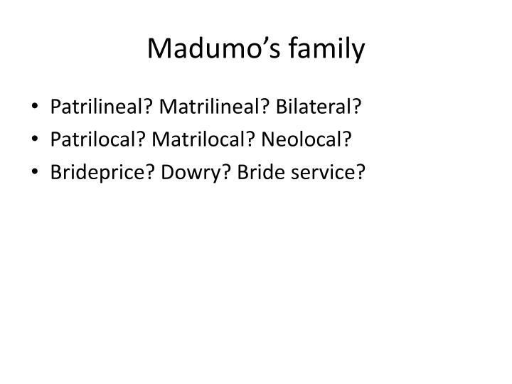 Madumo's