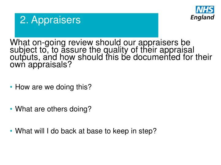 2. Appraisers