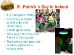 1 st patrick s day in ireland