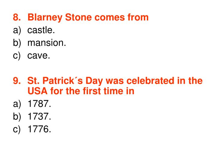 Blarney Stone comes from