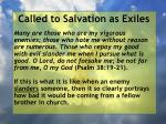 called to salvation as exiles11