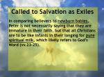 called to salvation as exiles13