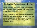 called to salvation as exiles15