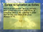 called to salvation as exiles23