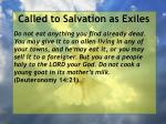 called to salvation as exiles26