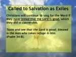 called to salvation as exiles33