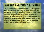 called to salvation as exiles34