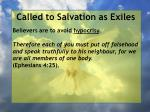 called to salvation as exiles7