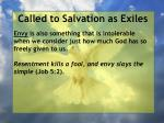 called to salvation as exiles9