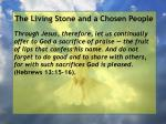 the living stone and a chosen people10