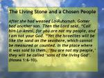 the living stone and a chosen people103