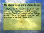 the living stone and a chosen people104