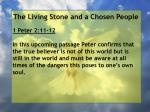the living stone and a chosen people109