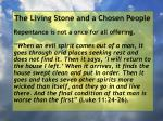 the living stone and a chosen people122