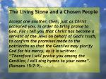the living stone and a chosen people129