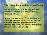 the living stone and a chosen people131