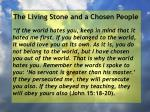 the living stone and a chosen people134