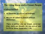 the living stone and a chosen people18