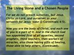 the living stone and a chosen people20