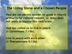 the living stone and a chosen people24