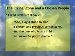 the living stone and a chosen people36