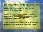 the living stone and a chosen people37