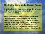 the living stone and a chosen people38