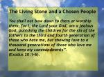 the living stone and a chosen people39