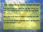 the living stone and a chosen people41