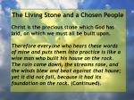 the living stone and a chosen people5
