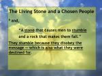 the living stone and a chosen people58