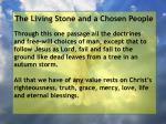 the living stone and a chosen people63