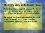 the living stone and a chosen people67