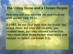 the living stone and a chosen people75