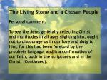 the living stone and a chosen people78