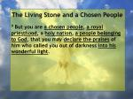 the living stone and a chosen people80