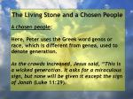 the living stone and a chosen people81